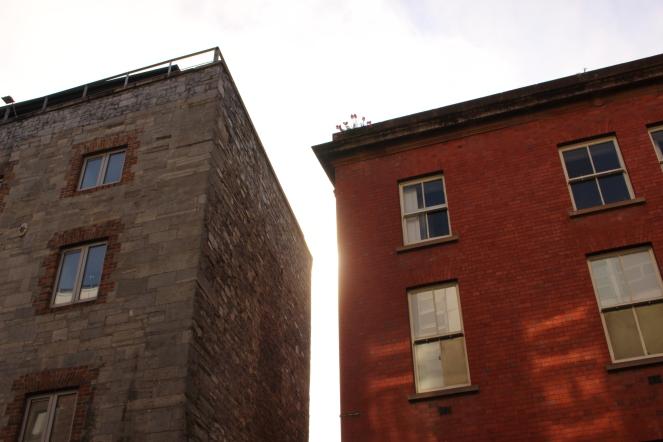 Sun shining on beautiful Dublin