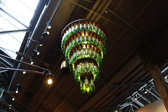 Cool chandelier at Jameson Distillery