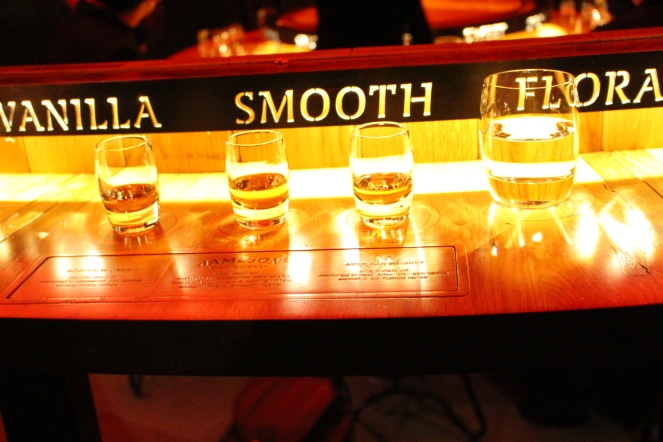 Whiskey tasting at Jameson Distillery