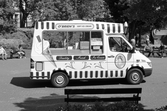 Ice cream truck in St Stephen's Green Park